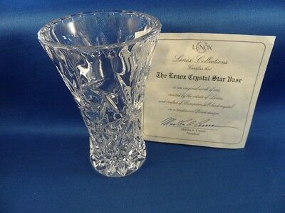 Original Studio Art The Lenox Crystal Star Vase Bud Vase 4 Full