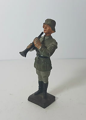 Lineol 7,5cm static Wermacht musician with clarinet (no Elastolin)
