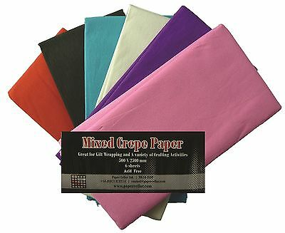 Mixed Crepe Paper 6 colours per pack