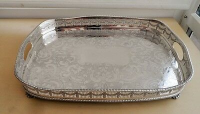 Superb Silver Plated Gallery Tray