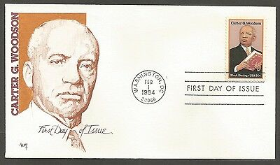 Us Fdc 1984 Carter G Woodson 20C Stamp Marg Cachet First Day Of Issue Cover