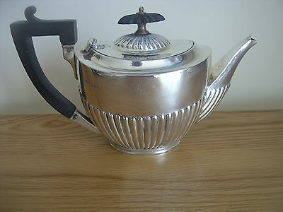 A Solid Silver Victorian Bachelors Tea Pot Assayed Sheffield 1895