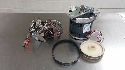 Hobart 2812 Knife Drive Motor Assembly 1/2 HP electrical parts, belt and pulley