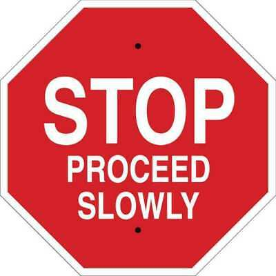 Stop Sign,18 x 18In,White/Red BRADY 124514