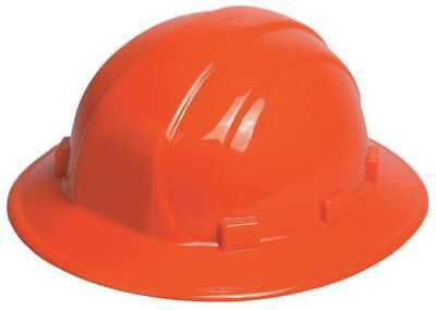 Erb Safety 19913 Hard Hat, Full Brim, Orange, 6-Pt.Ratchet