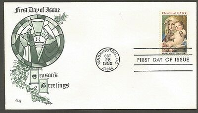 Us Fdc 1982 Christmas Tiepolo 20C Stamp Marg Cachet First Day Of Issue Cover