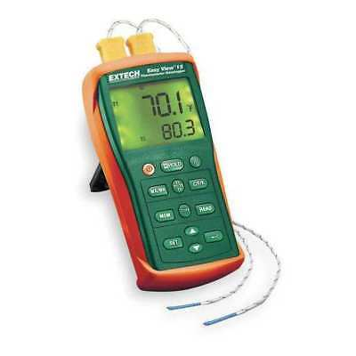 Thermocouple Thermometer,2 Input,Type K EXTECH EA10