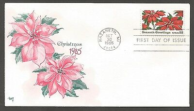 Us Fdc 1985 Season's Greetings 22C Stamp Marg Cachet First Day Of Issue Cover