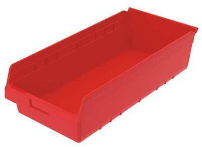 "Red Shelf Bin, 23-5/8""L x 11-1/8""W x 6""H AKRO-MILS 30014RED"