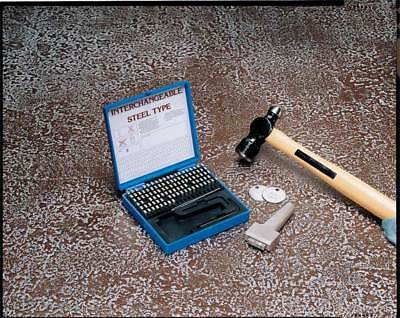 Steel Type Marking Kit w/ Holder,1/8in YOUNG BROS. STAMP WORKS 31129