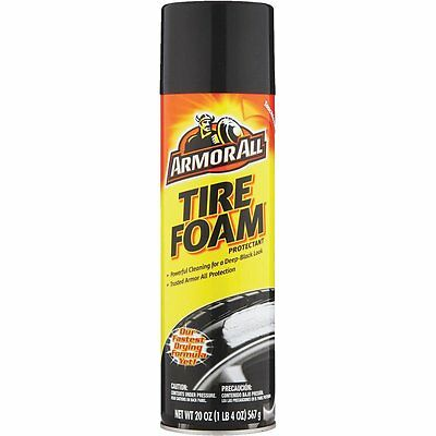 (12 PACK) Armor All Tire Foam Cleaner Protector  Vehicle More Black Protectant