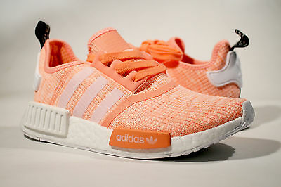 577571ef3 Brand New Adidas Nmd R1 Womens Sun Glow Coral Orange Size 6 - 7.5 Pink  By3034