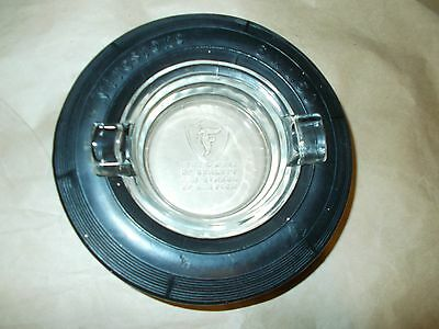 Vintage Firestone Airplane Tire Ashtray With Glass Insert No Chips Or Cracks