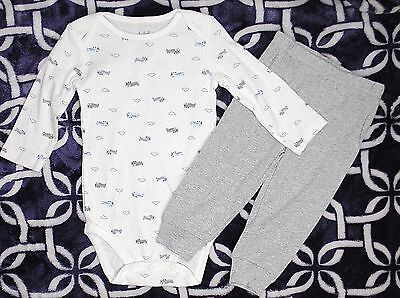 NEW CHILD OF MINE By CARTERS Boys One Piece Bodysuit Shirt Tops Pants Set 6-9 Mo