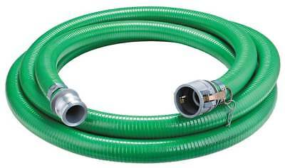 """ZORO SELECT 4YLN2 1-1/2"""" ID x 20 ft PVC Discharge & Suction Hose GN"""
