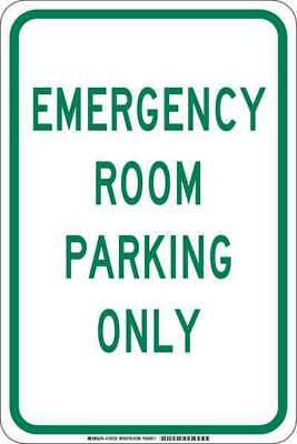 Traffic Sign,18 x 12In,Green/White BRADY 129723