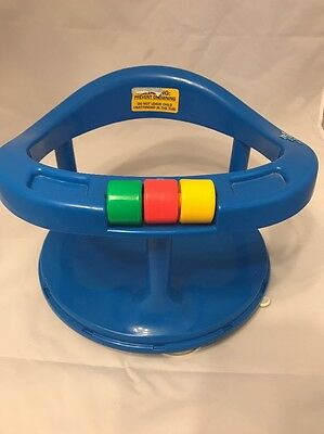 Safety first 1st swivel bath seat ring blue suction cup infant bathing chair USA