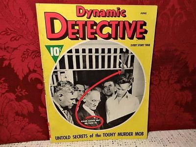 VINTAGE JUNE 1938 DYNAMIC DETECTIVE MAGAINE w/ ACTUAL PHOTOS OF HANGED MAN