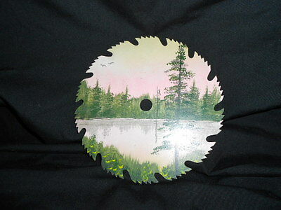 Hand painted saw blade