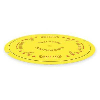 SOUTHWORTH PPDT Pallet Disk Turntable,4000 lb.,Yellow
