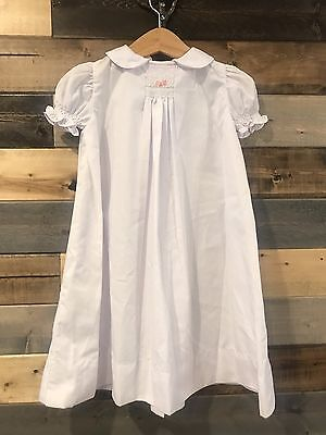 Vintage Baby White Long Gown W/ Smocking Size 6 Months