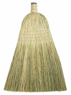 "Tough Guy Natural 13"" Corn/Fiber Household Broom Head, 6PVY2"