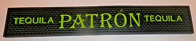 Patron Tequila Lime Green & Black Rubber Bar Mat / Runner New