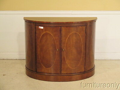 F39744: HENREDON Aston Court 1/2 Round Mahogany Server Or Commode