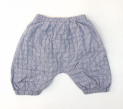 WILLABY CLOTHIER Blue Quilted Gauzy Cotton Harem Pants Bloomers Baby Toddler 4y