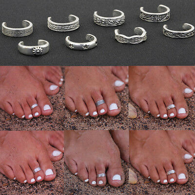 New Lots Retro Celebrity Jewelry Silver Adjustable Open Toe Ring Finger Foot