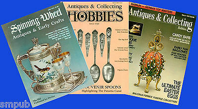 3 Magazines about Antiques, Collecting & Hobbies - March 1985, March 1989, June