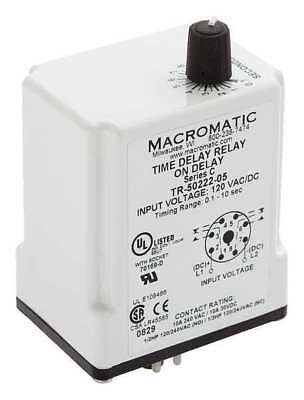 MACROMATIC TR-50226-04 Time Relay,On Delay,0.05 sec.,12VDC