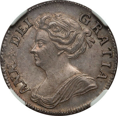 Great Britain 1708 Anne Shilling NGC MS-62