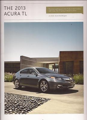 2013  13 Acura  TL  original sales  brochure MINT