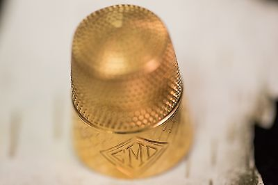 Solid 14K Yellow Gold Thimble 4.9 Grams
