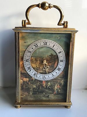 Rare Vintage Swiss Imhof Mantel Carriage Clock - Working Order