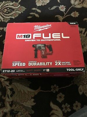 """Milwaukee M18 FUEL 1"""" SDS Plus Rotary Hammer (TOOL ONLY)  2712-20 Brand New!"""