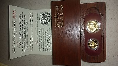 Australia 1987 Nugget 2 coins Gold Proof Set with Box & COA