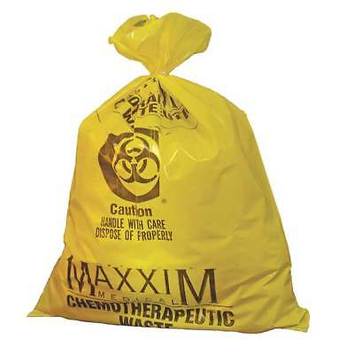 Chemo Waste Bags,14 gal.,Yellow,PK100 ZORO SELECT WYCB142233