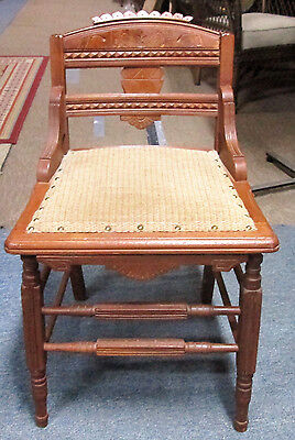 Antique Vintage Eastlake VANITY STOOL BENCH/CHAIR  1930s-40s