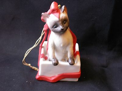 Vintage Catnippers Collection Irene Spencer Bow Brummel Ornament Siamese Cat