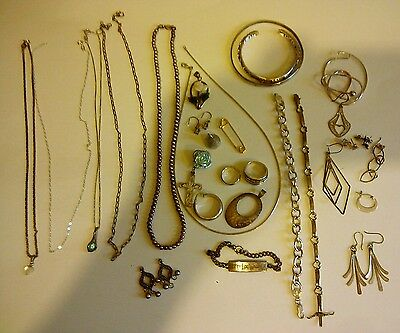 Vintage Sterling Silver Jewelry Lot Nice Pieces!!