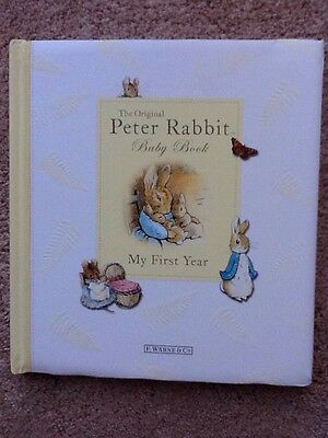 The Original Peter Rabbit Baby Book,My First Year,Baby Record Book
