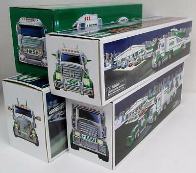 CASE OF 4 HESS TRUCKS 2010 2013 2014 2016 Toy Truck Jet Tractor Dragster Crusier