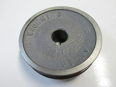 """Browning AK30, 3"""" Diameter Drive/Arbor Pulley for 5/8"""" Keyed Shaft,Steel,US Made"""