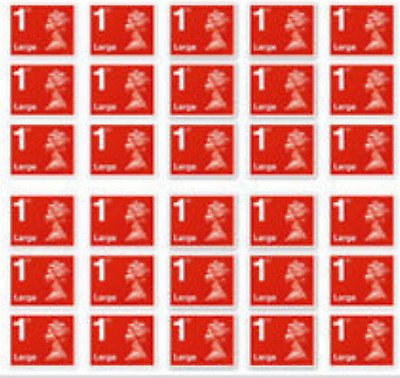 30 x 1st class Large Stamps BEAT THE PRICE INCREASE WORTH £29.40