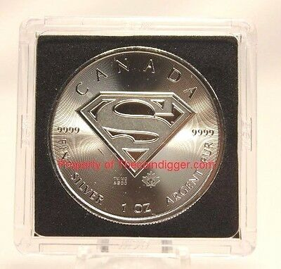 5 BCW Canada Silver Maple Leaf 2x2 Coin Snap Capsule Holder 38.1mm Superman