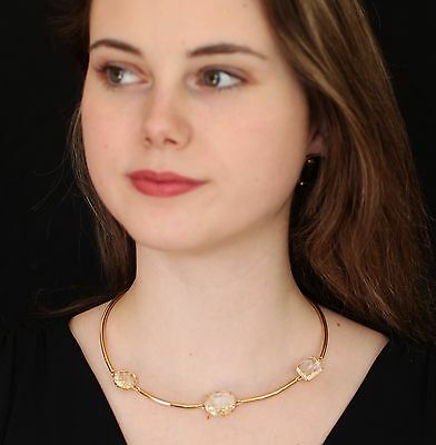 Kate Spade Vegas Jewels FACETS COLLAR Necklace EARRINGS SET CRYSTAL CLEAR CLASS