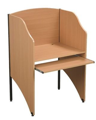 Deluxe Floor Carrel,Teak BALT 89868