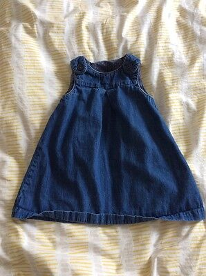 girls denim pinafore dress 18-24 months - H&M